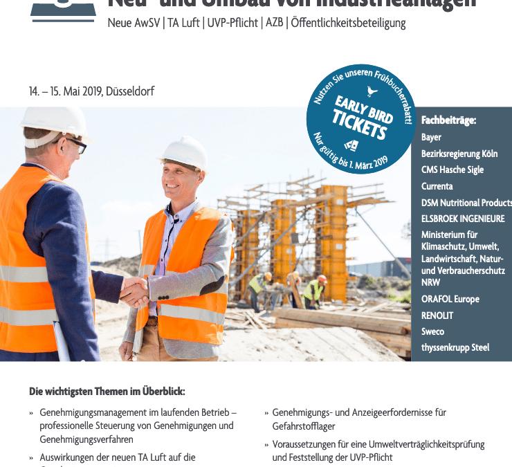 Workshop | Fachtagung vom 14. bis 15. Mai 2019 in Düsseldorf von Elsbroek Ingenieure